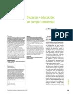 Pini - Discurso y Educación. Un Campo Transversal