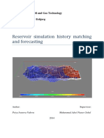 Reservoir Simulation History Matching and Forecasting