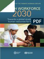 Health Workforce 2030 WHO