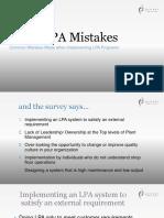Top 5 Lpa Mistakes
