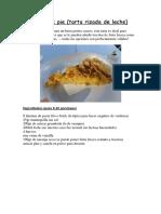 Ruffled milk pie (tarta rizada de leche)
