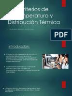 Criterios de Temperatura y Distribución Terminca