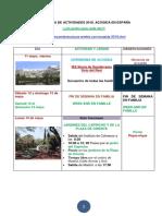 programa de actividades 2018