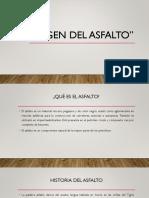 Origen Del Asfalto
