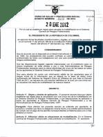 Decreto 100 de 2012. Multiafiliación.pdf