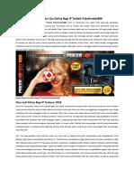 Bandar Poker Jitu Online Bagi JP Terbaik Pokerhotbet888
