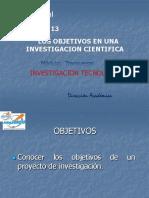 Los Objetivos en Una Investigacion y Su Importanciia