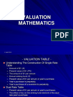 Valuation Maths (3&4) 15.7.09
