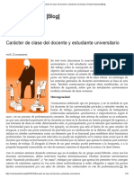 Carácter de Clase Del Docente y Estudiante Universitario _ Rolando Astarita [Blog]