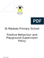Positive Behaviour and Playground Supervision Policy