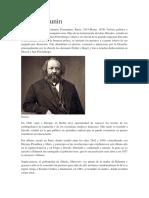 Biografia Mijaíl Bakunin