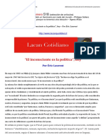 El Inconsciente Es La Política Hoy Por Eric Laurent