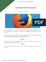 Cómo Instalar Mozilla Firefox en Canaima - SoporteCanaima