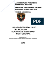 Silabo de Doctrina e Identidad Institucional Final
