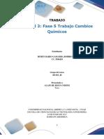 Formato Entrega Trabajo Colaborativo – Unidad 3 Fase 5 Trabajo Cambios Químicos RUBEN
