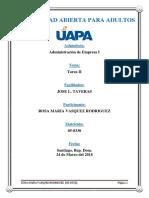 Administración de Empresa I (Tarea II)