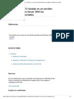 PROCEDIMIENTO_ Instalar en Un Servidor Web de Windows Server 2003 Los Certificados Importados