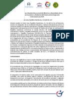 Declaración de la Primera Reunión Intersectorial de Ministros y Autoridades de los Subsistemas Social, Económico y Ambiental del Sistema de la Integración Centroamericana (SICA).
