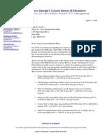 Prince George's Co. school board members' letter to Rushern Baker