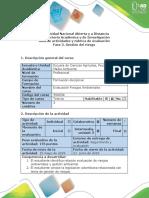 Guía de Actividades y Rúbrica de Calificación - Fase 3 - Gestión Del Riesgos-1