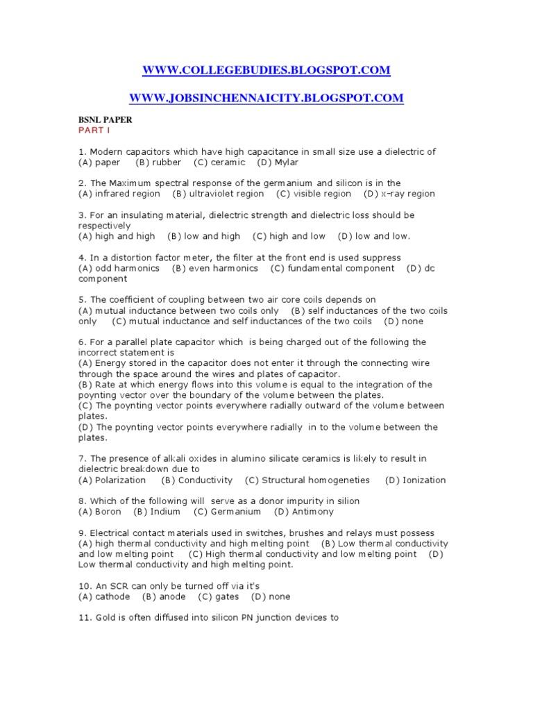BSNLPAPE3Full2009 | Amplifier | P–N Junction