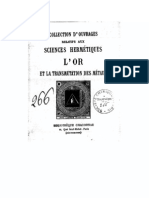 T. Tiffereau - L'or et la Transmutation des Metaux