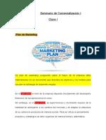 Seminario de Comercialización I Clase I 2014