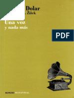 DOLAR, Mladen...(2007) Una Voz y Nada Más