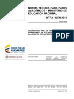 NTPA-MEN2016