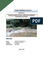 1.-CARACTULA de Hidrologia