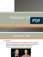 Shakespeare Today