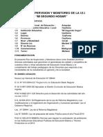 Plan de Supervision y Monitoreo de La i