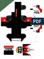 Pilotoons Papercraft Senna88