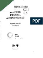 Derecho Procesal Administrativo Hugo Calderon Morales
