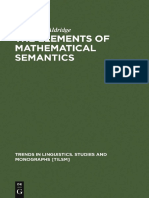 Elements of Mathematical Semantics