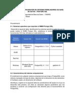 Laboratorio 3 Configuración de Sistemas Manejadores de Base de Datos