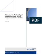 Detecon Opinion Paper Managing the Profitability of Eastern European Mobile Telecommunication Carriers