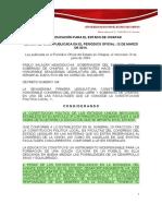 Ley General de La Educacion Del Estado de Chiapas