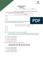 Prueba de Matemática OA1 Números y Operaciones