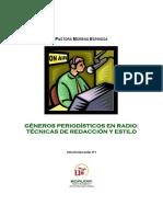 Géneros Periodísticos en Radio- Pastora Moreno Espinosa