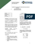 DESFASES DE VOLTAJE Y CORRIENTE EN  CIRCUITOS CON  CARGA CAPACITIVA, RESISTIVA E INDUCTIVA. Informe2 UPS