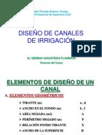 Diseños de Canales de Irrigacion Semana 11