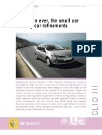 Renault Clio III Press Info
