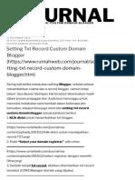 custom domain blogger | Rumahweb's News, Article, and Tutorial of Web Development