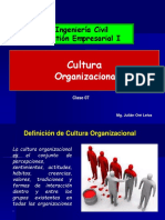 TEMA 7 Cultura Organizacional