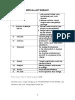 Bm, Form Medical Audit