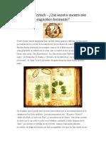El papiro Voynich – ¿Qué secretos encierra este enigmáticodocumento
