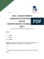 Guía 1 MatLab - Sistemas Lineales