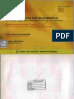 Hasil Pendaftaran Perusahaan_Usaha (Pertambangan, Penggalian, Industri Pengolahan, Listrik, Gas, Air, Dan Konstruksi) Hasil Sensus Ekonomi 2006 Jawa Tengah