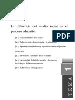 Tema1 La Influencia Del Medio Social en El Proceso Educativo